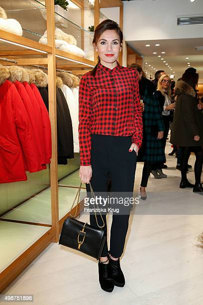Nadine Warmuth attends the Woolrich Store Opening on November 25 2015 in Berlin Germany
