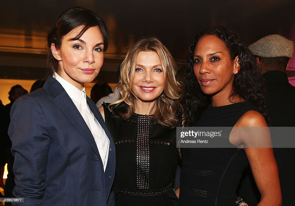 Nadine Warmuth, Ursula Karven and Barbara Becker attend Flair Magazine Party at Pariser Platz 4 on January 15, 2013 in Berlin, Germany.