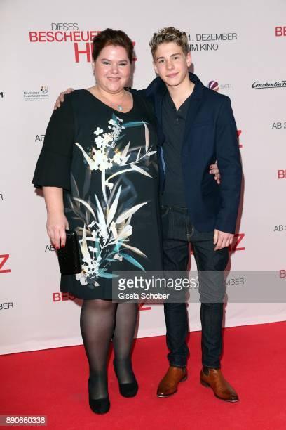 Nadine Wrietz and Philip Noah Schwarz during the 'Dieses bescheuerte Herz' premiere at Mathaeser Filmpalast on December 11 2017 in Munich Germany