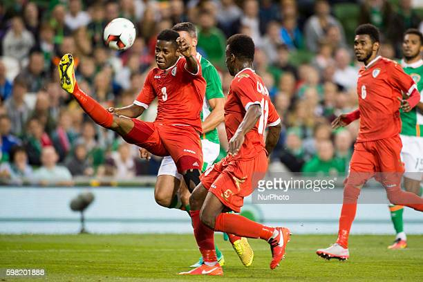 Nadir Awadh Bashir Bait Mabrook of Oman kicks the ball during the International Friendly football match between Republic of Ireland and Oman at Aviva...