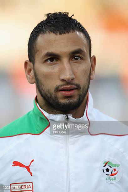 Nadir Belhadj of Algeria ahead of the 2010 FIFA World Cup South Africa Group C match between USA and Algeria at the Loftus Versfeld Stadium on June...
