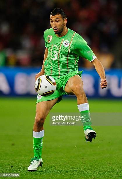 Nadir Belhadj of Algeria in action during the 2010 FIFA World Cup South Africa Group C match between England and Algeria at Green Point Stadium on...