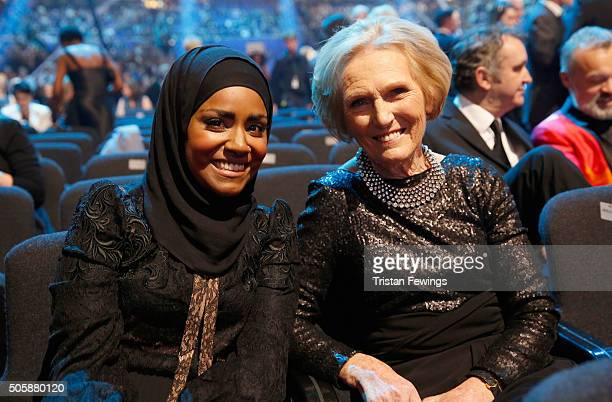 Nadiya Hussain and Mary Berry at the 21st National Television Awards at The O2 Arena on January 20 2016 in London England