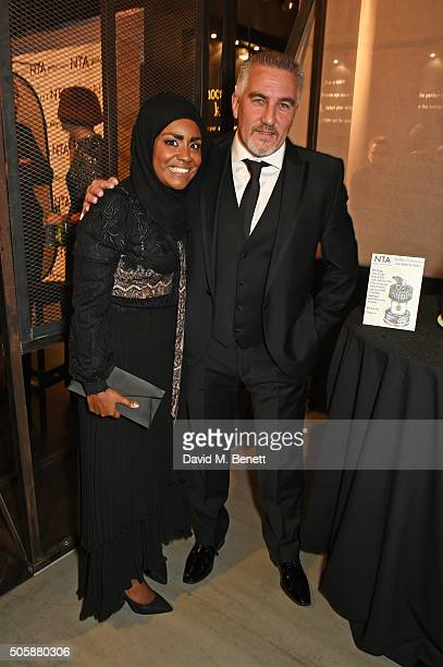 Nadiya Hussain and Paul Hollywood attend the 21st National Television Awards at The O2 Arena on January 20 2016 in London England