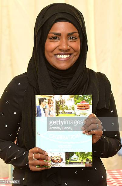 Nadiya Hussain attends a book signing after winning the Great British Bake Off final at Waterstone's Piccadilly on October 8 2015 in London England