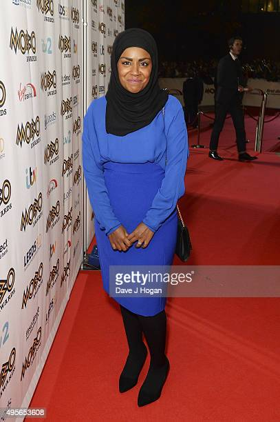 Nadiya Hussain attends the MOBO Awards at First Direct Arena on November 4 2015 in Leeds England