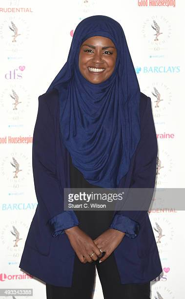 Nadiya Hussain attends the Women of the Year lunch and awards at InterContinental Park Lane Hotel on October 19 2015 in London England