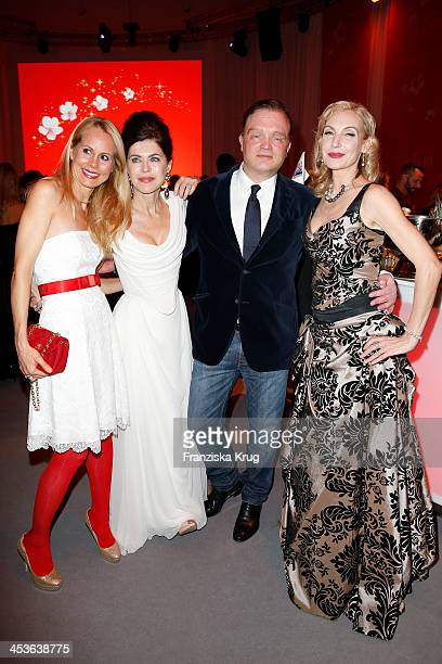 Nadja Anna zu SchaumburgLippe Anja Kruse Alexander zu SchaumburgLippe and Ute Lemper attend the Barbara Tag 2013 at Postpalast on December 04 2013 in...