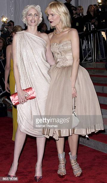 Nadja Auermann and Eva Herzigova attend 'The Model as Muse Embodying Fashion' Costume Institute Gala at The Metropolitan Museum of Art on May 4 2009...