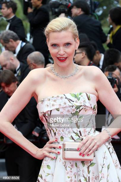 Nadja Auermann attends the Opening ceremony and Premiere of 'Grace of Monaco' at the 67th Annual Cannes Film Festival on May 14 2014 in Cannes France