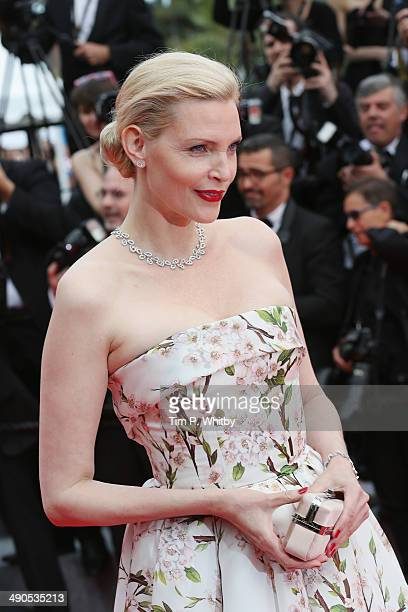 Nadja Auermann attends the Opening ceremony and the 'Grace of Monaco' Premiere during the 67th Annual Cannes Film Festival on May 14 2014 in Cannes...
