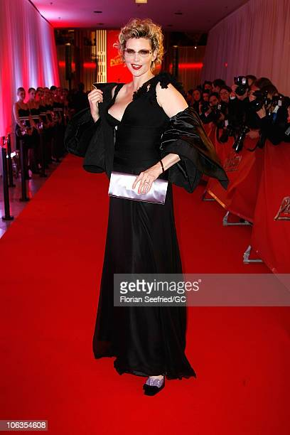 Nadja Auermann attends the red carpet for the PlusCity Charity Gala of Demi Moore and Ashton Kutcher at PlusCity on October 29 2010 in Pasching near...