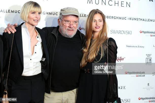 Nadja Auermann Photographer Peter Lindbergh and Cosima Auermann during the Peter Lindbergh exhibition 'From Fashion to Reality' at Kunsthalle der...