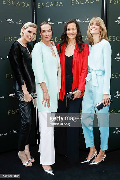 Nadja Auermann Tatjana Patitz Claudia Mason and Julia Stegner attend the ESCADA Flagship Store Opening on June 23 2016 in Duesseldorf Germany