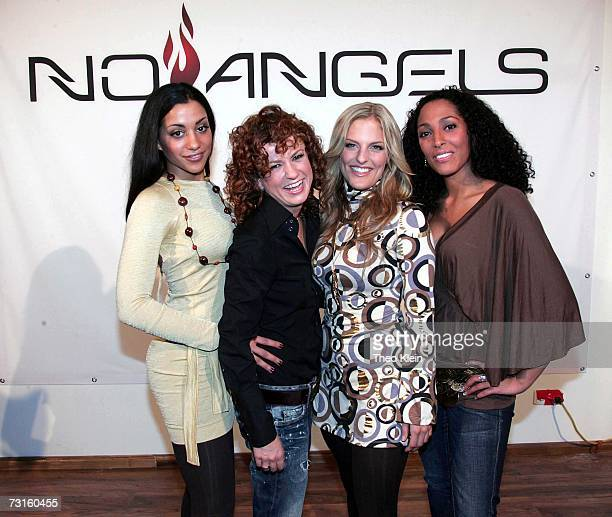 Nadja Benaissa Lucy Diakovska Sandy Moelling and Jessica Wahls at a press conference to announce the reunion of German pop group 'No Angels' on...