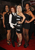 Nadja Benaissa Lucy Diakovska Sandy Moelling and Jessica Wahls of the pop group No Angels attend the Lambertz Monday Night Schoko Fashion party at...