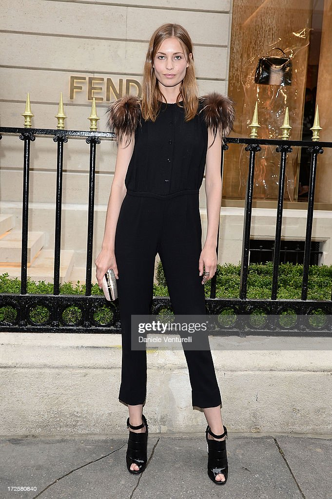 Nadja Bender attends the opening of Fendi's new boutique at 51 Avenue Montaine on July 3, 2013 in Paris, France.