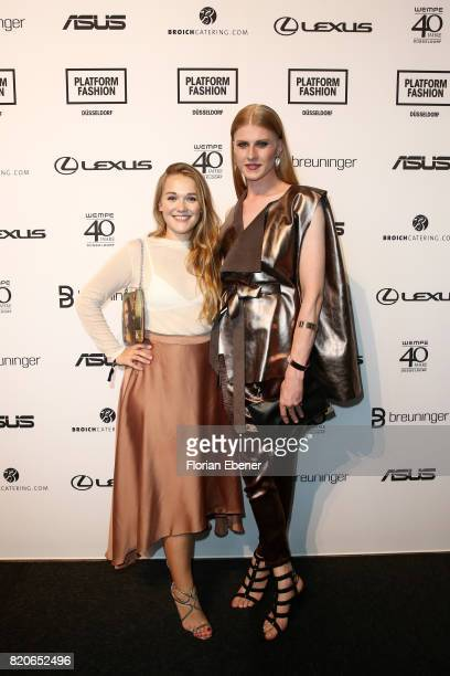 Nadja Kiess and Veit Alex attend the Breuninger show during Platform Fashion July 2017 at Areal Boehler on July 21 2017 in Duesseldorf Germany