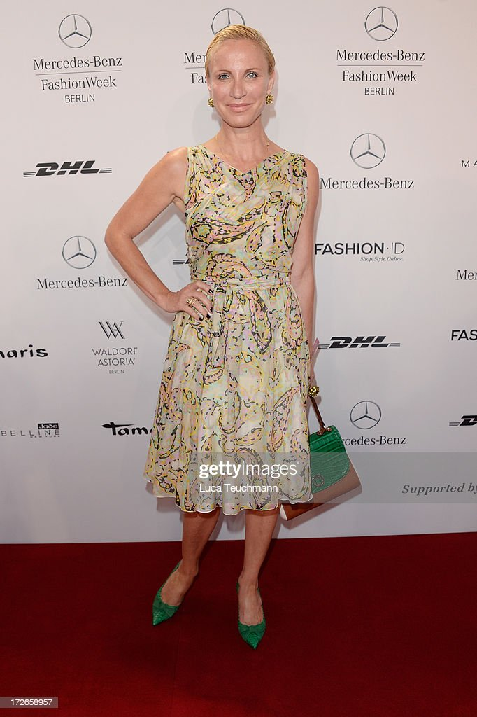 Nadja Michael attends the Laurel Show during the Mercedes-Benz Fashion Week Spring/Summer 2014 at Brandenburg Gate on July 4, 2013 in Berlin, Germany.