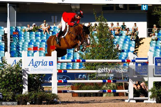 Nadja Peter Steiner riding Saura de Fondcombe during Nations Cup Part 1 of the Equestrian European Championships on August 23 2017 in Gothenburg...