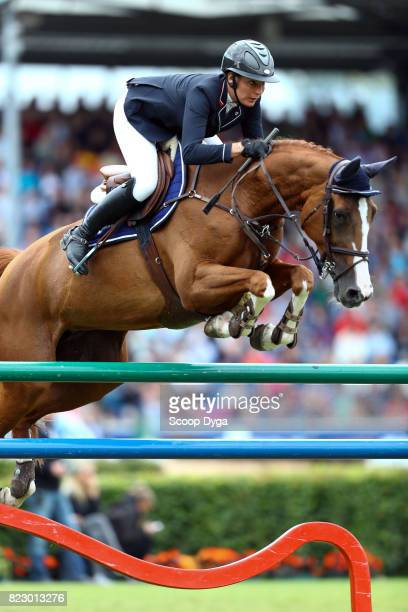 Nadja PETER STEINER riding SAURA DE FONDCOMBE during the Rolex Grand Prix part of the Rolex Grand Slam of Show Jumping of the World Equestrian...
