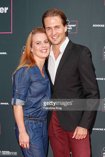 Nadja Scheiwiller and Alexander Klaws attend the Late Night Shopping Designer Outlet Soltau on August 28 2014 in Soltau Germany