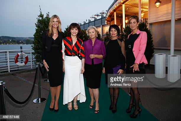 Nadja Schildknecht Juliette Binoche Tina Brown Doris Leuthard and Carolina MuellerMoehl attend the Women of Impact Reception during Day 2 of Zurich...
