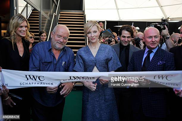 """Nadja Schildknecht Peter Lindbergh Cate Blanchett and Georges Kern attended the official opening of the """"Timeless Portofino"""" exhibition with..."""