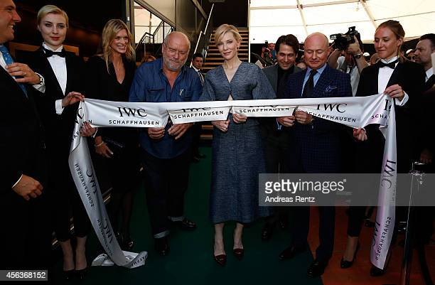 """Nadja Schildknecht Peter Lindbergh Cate Blanchett Karl Spoerri and Georges Kern attended the official opening of the """"Timeless Portofino"""" exhibition..."""