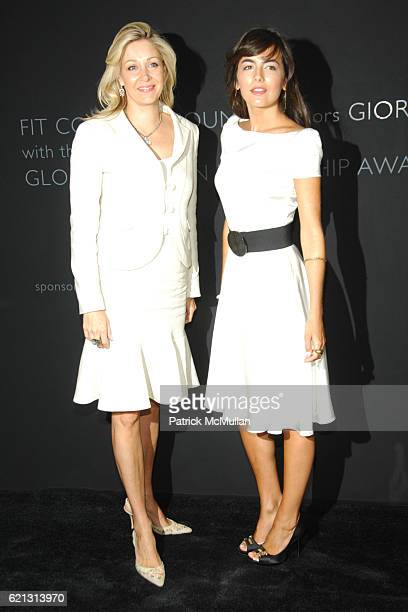 Nadja Swarovski and Camille Bell attend Fashion Institute of Technology Presents the First Couture Council Award for Global Fashion Leadership to...