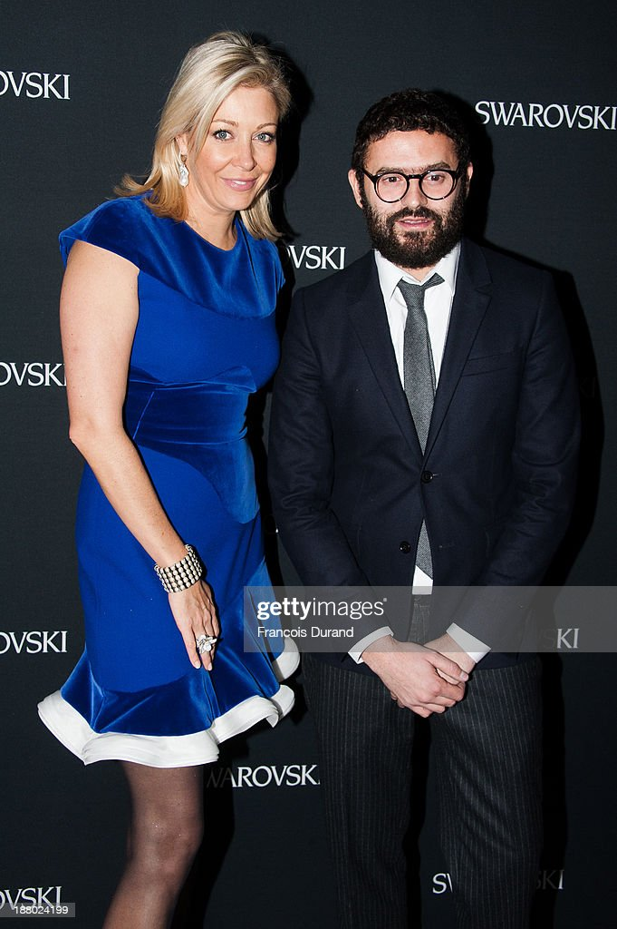 Nadja Swarovski and guest attend the Swarovski Dinner In Honor of the Bouroullec Brothers at Chateau de Versailles on November 14, 2013 in Versailles, France.