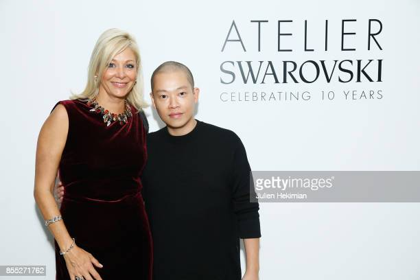 Nadja Swarovski and Jason Wu attend the Atelier Swarovski By Jason Wu dinner as part of the Paris Fashion Week Womenswear Spring/Summer 2018 on...