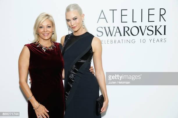 Nadja Swarovski and Karlie Kloss attend the Atelier Swarovski By Jason Wu dinner as part of the Paris Fashion Week Womenswear Spring/Summer 2018 on...