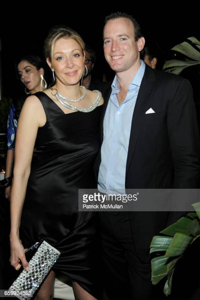 Nadja Swarovski and Rupert Adams attend Peter Dundas of EMILIO PUCCI hosts a dinner at The Webster at The Webster on December 3 2009 in Miami Beach...