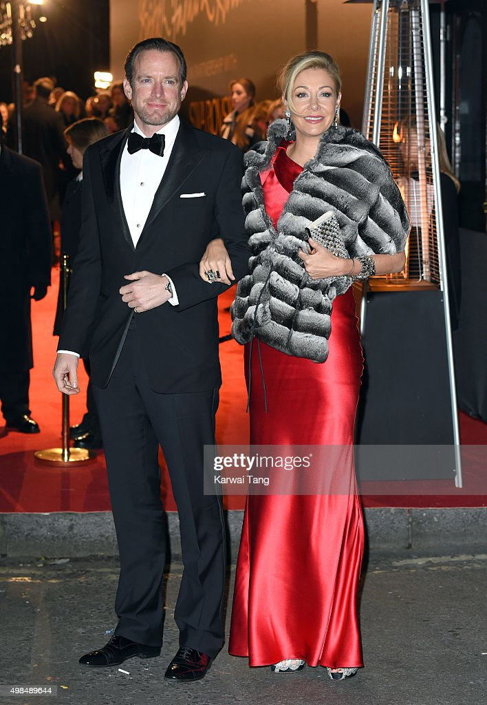 Nadja Swarovski and Rupert Adams attend the British Fashion Awards 2015 at London Coliseum on November 23, 2015 in London, England.
