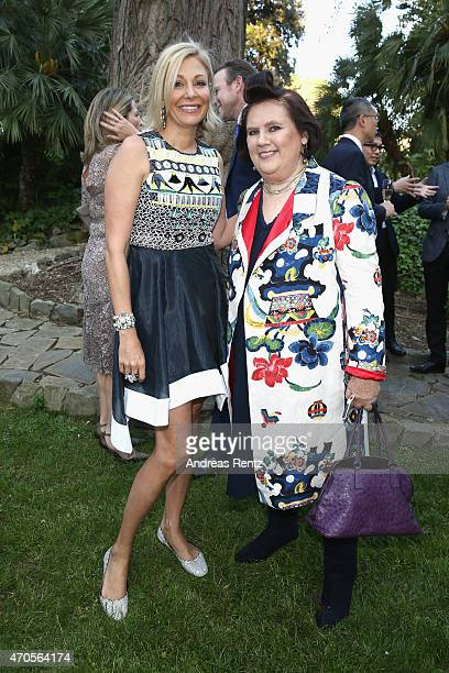 Nadja Swarovski and Suzy Menkes International Vogue Editor attend the Conde' Nast International Luxury Conference Welcome Reception at Four Seasons...