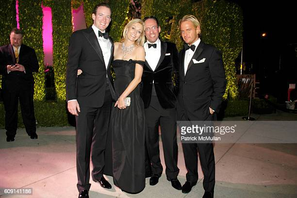 Nadja Swarovski Daniel Saffir and Daniel Benedict attend VANITY FAIR Oscar Party at Morton's on February 25 2007 in Los Angeles CA