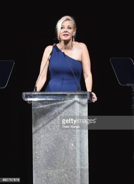 Nadja Swarovski speaks onstage during the 2017 CFDA Fashion Awards at Hammerstein Ballroom on June 5 2017 in New York City