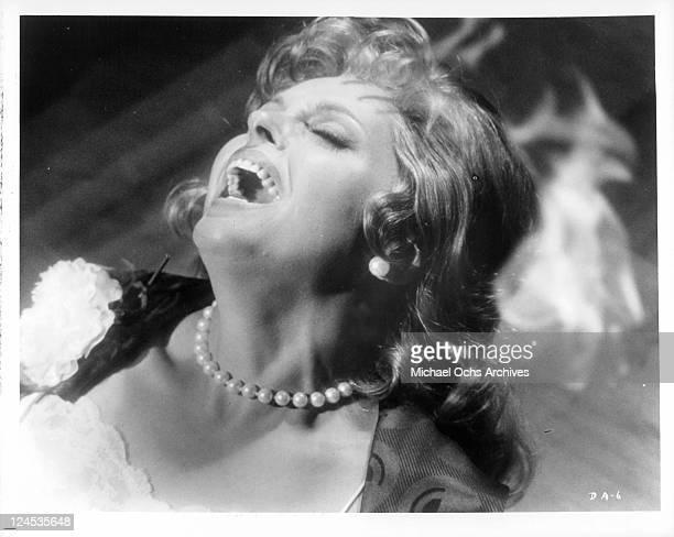 Nadja Tiller screams in a scene from the film 'The Dead Are Alive' 1972