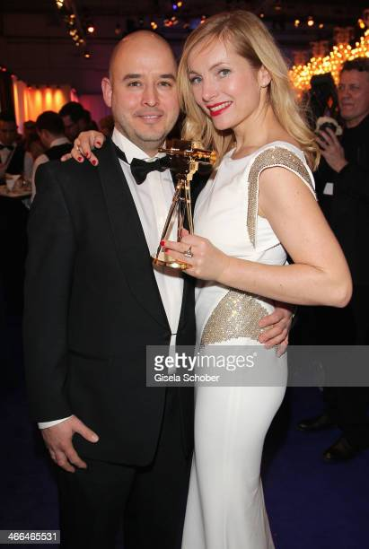 Nadja Uhl and husband Kay Bockhold attend the after show party of Goldene Kamera 2014 Hangar 7 at Tempelhof Airport on February 1 2014 in Berlin...