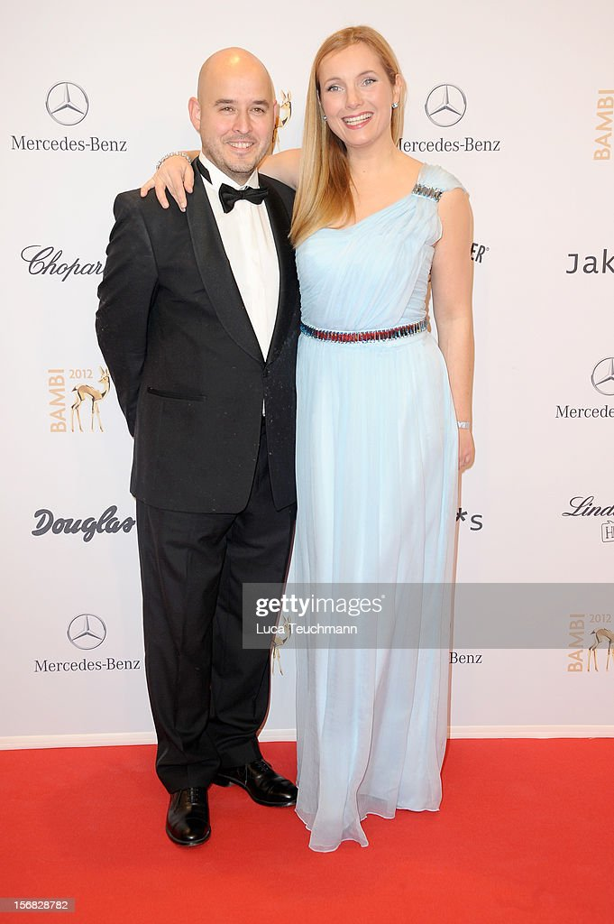 Nadja Uhl and husband Kay Bockhold attend the 'BAMBI Awards 2012' at the Stadthalle Duesseldorf on November 22, 2012 in Duesseldorf, Germany.