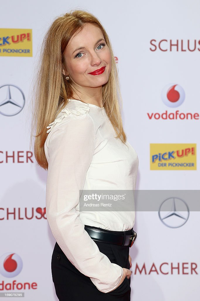 Nadja Uhl attends the 'Der Schlussmacher' Berlin Premiere at Cinestar Potsdamer Platz on January 7, 2013 in Berlin, Germany.
