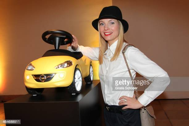 MUNICH GERMANY JANUARY Nadja Uhl attends the presentation and vernissage of the calender 'THE ADAM BY BRYAN ADAMS' for Opel at Haus der Kunst on...