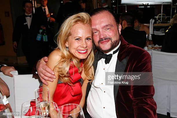 Nadja zu SchaumburgLippe and Alexander zu SchaumburgLippe attend the German Film Ball 2015 on January 17 2015 in Munich Germany