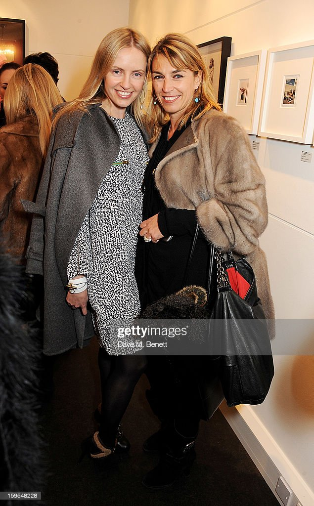 Nadya Abela (L) and Anastasia Webster attend a private view of 'Bruno Bisang: 30 Years Of Polaroids' at The Little Black Gallery on January 15, 2013 in London, England.