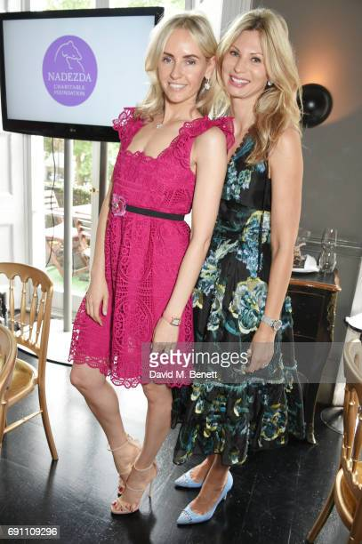 Nadya Abela and Tanya Lewin O'Cuinn attend a Charity Luncheon in support of the Nadezda Foundation hosted by Nadya Abela at Morton's Club on June 1...