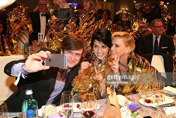 Nadya singer of Pussy Riot Nadeschda Andrejewna Tolokonnikowa and her husband and Charlize Theron during the Cinema For Peace Gala 2016 during the...