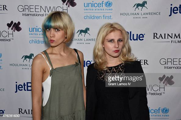 Nadya Tolokonnikova and Maria Alyokhina of Pussy Riot attend Greenwich Film Festival 2015 A Conversation With Pussy Riot at Bow Tie Cinema on June 6...