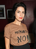 Nadya Tolokonnikova attends 'I'm With The Banned' presented by the Belarus Free Theatre in celebration of their 10th anniversary at KOKO on October...