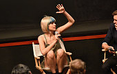 Nadya Tolokonnikova of Pussy Riot speaks during Greenwich Film Festival 2015 Changemaker Honoree Gala at L'Escale Restaurant on June 6 2015 in...
